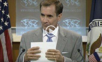 """Jugaba Pókemon Go en una conferencia de prensa y lo """"pescaron"""" - John Kirby, vocero del Departamento de Estado de EEUU:"""