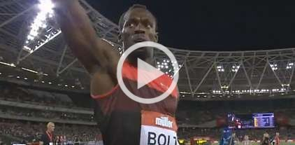 Usain Bolt voló en Londres -