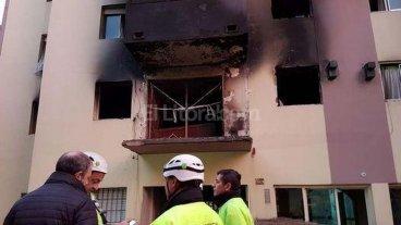 17 heridos por una explosi�n en un edificio en Flores