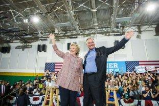 El senador Tim Kaine ser� el compa�ero de f�rmula de Hillary Clinton