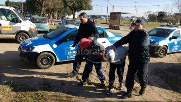 Menores asaltantes detenidos