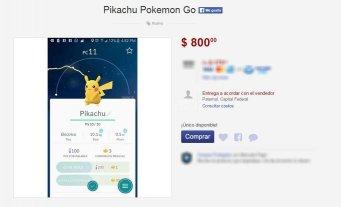 """Ins�lito: venden por Internet un """"Pikachu"""" para el Pok�mon Go"""