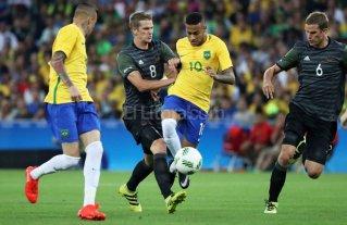 Brasil ganó sufriendo el oro olímpico