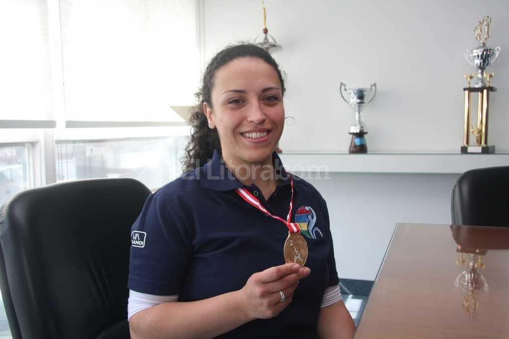 Mariana Capdeville, una de las atletas que participará del encuentro en la Municipalidad Crédito: Archivo El Litoral / Guillermo Di Salvatore