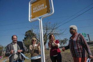 """Inauguraron la plaza """"Nelson Mandela"""" en Barranquitas Sur"""