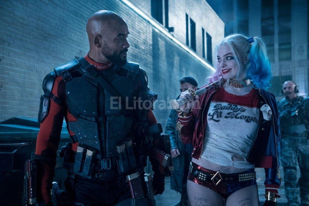 Aliados: Will Smith interpreta a un Deadshot sentimental, y Margot Robbie est� a la altura de lo esperado con su Harley Quinn. Foto:Gentileza Warner Bros