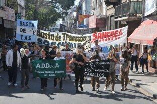 Marcharon contra la tracci�n a sangre