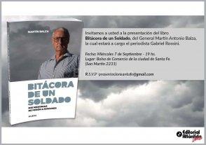 El general Balza presentar� su libro de memorias en Santa Fe