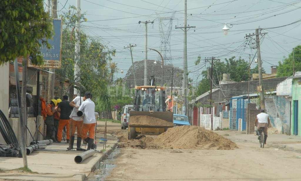 En obra. La calle Demetrio G�mez, en plena obra de pavimentaci�n, ser� escenario de los festejos. Foto:Archivo El Litoral