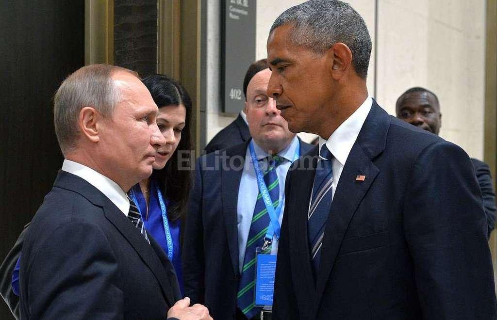 Vladimir Putin y Barack Obama. Foto:DPA
