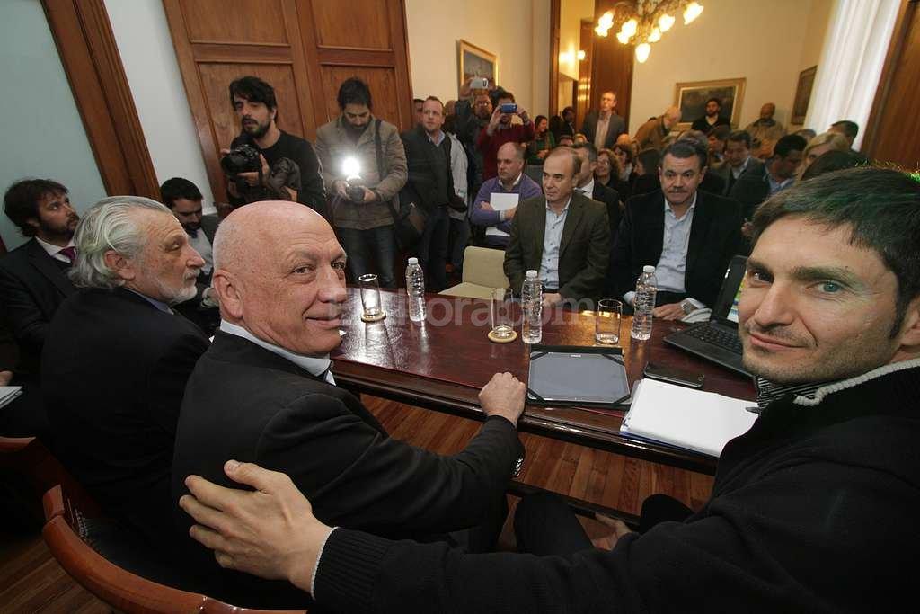 Silberstein, Bonfatti y Pullaro. Foto:Luis Cetraro