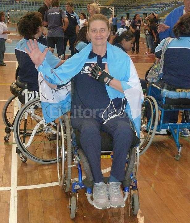Para María Itatí Castaldi es un sueño cumplido formar parte del Seleccionado femenino de básquet en silla de ruedas. Gentileza María Itatí Castaldi