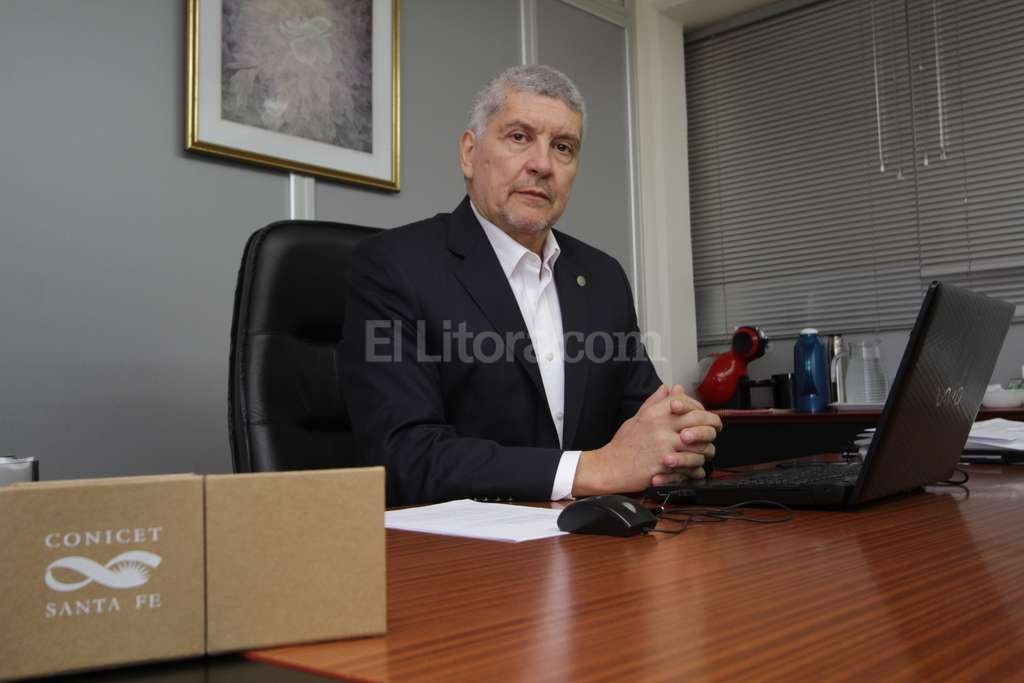 Ulises Sedr�n. Conduce el Incape y ahora fue elegido por sus pares para ocupar el m�ximo cargo del Conicet Santa Fe. Foto:Pablo Aguirre