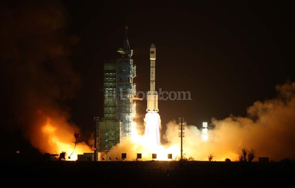 Imagen del lanzamiento del laboratorio espacial Tiangong-1  el jueves 29 de septiembre de 2011. Foto:EFE