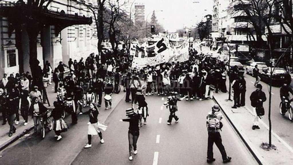 Una de las marchas en La Plata por el boleto gratuito. Foto:Archivo