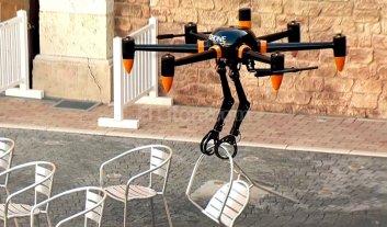 Crean un dron capaz de levantar hasta 10 kilos