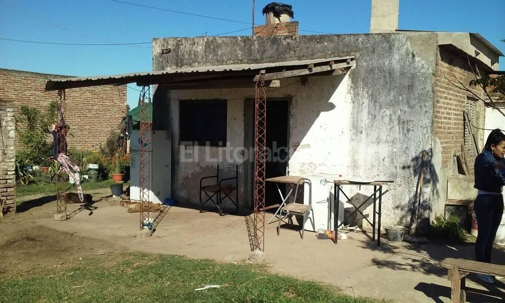 La casa de �Marito� donde se consum� el atroz suceso. En las pr�ximas horas, el detenido ser� llevado a audiencia imputativa. Foto:El Litoral
