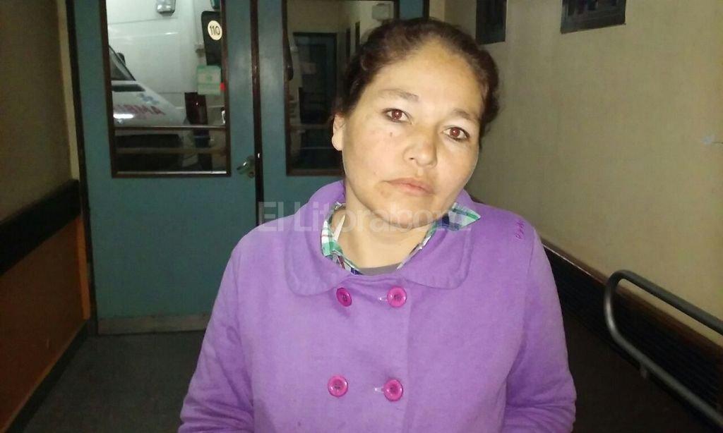 Sandra Aguirre es la mam� de Kevin D�az. Seg�n le cont� a El Litoral le gritaban