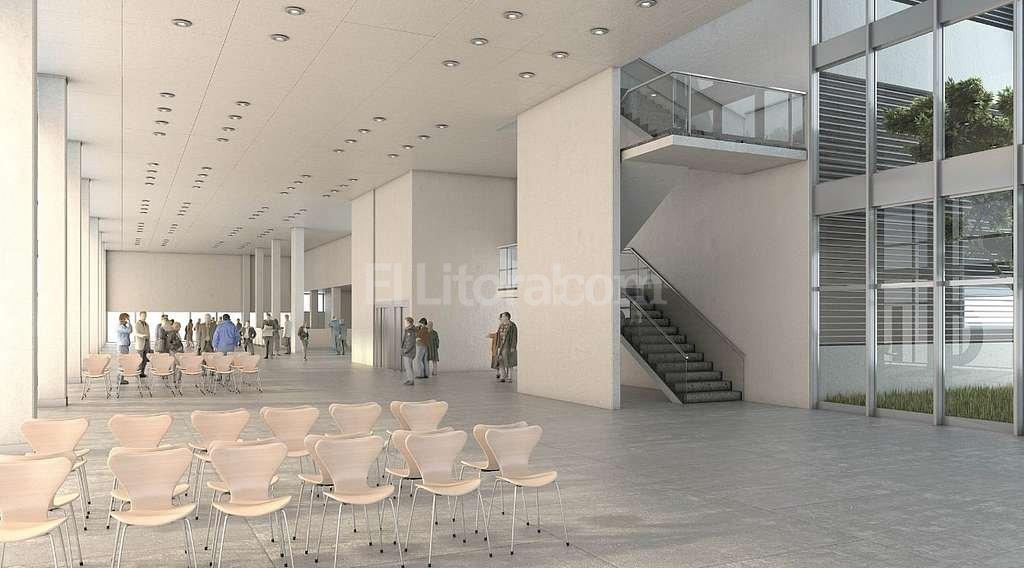 EL MONTAJE de lo que será el interior del futuro hospital de alta complejidad que tendrá el norte de la capital provincial. Secretaría de Obras Públicas de la Nación