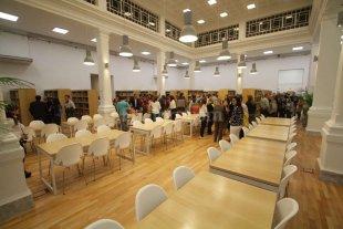 Se inaugur� la biblioteca  de Ciencias Econ�micas