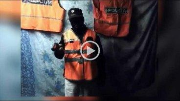 Delincuentes amenazan a polic�as y fiscales tras el robo a un banco