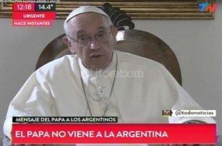 El Papa no vendr� el a�o pr�ximo al pa�s