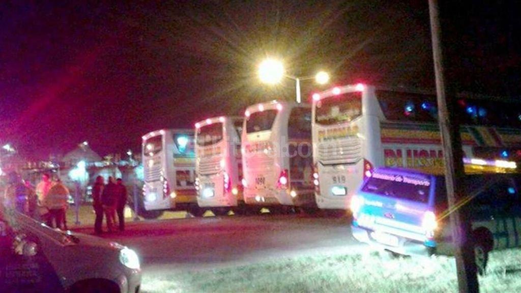 Por segunda vez en una semana, un grupo de choferes que trasladaba estudiantes a Bariloche dio positivo al test de drogas. Foto:Gentileza Guardia Urbana Municipal Bah�a Blanca
