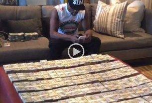 Mayweather se film� con sus millones y gener� pol�mica