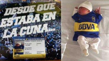 """Hincha de Boca bautiz� a su hijo """"Xeneize"""""""