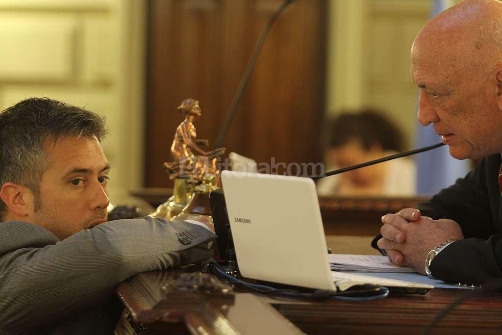 Leandro Busatto y Antonio Bonfatti. Foto:Luis Cetraro