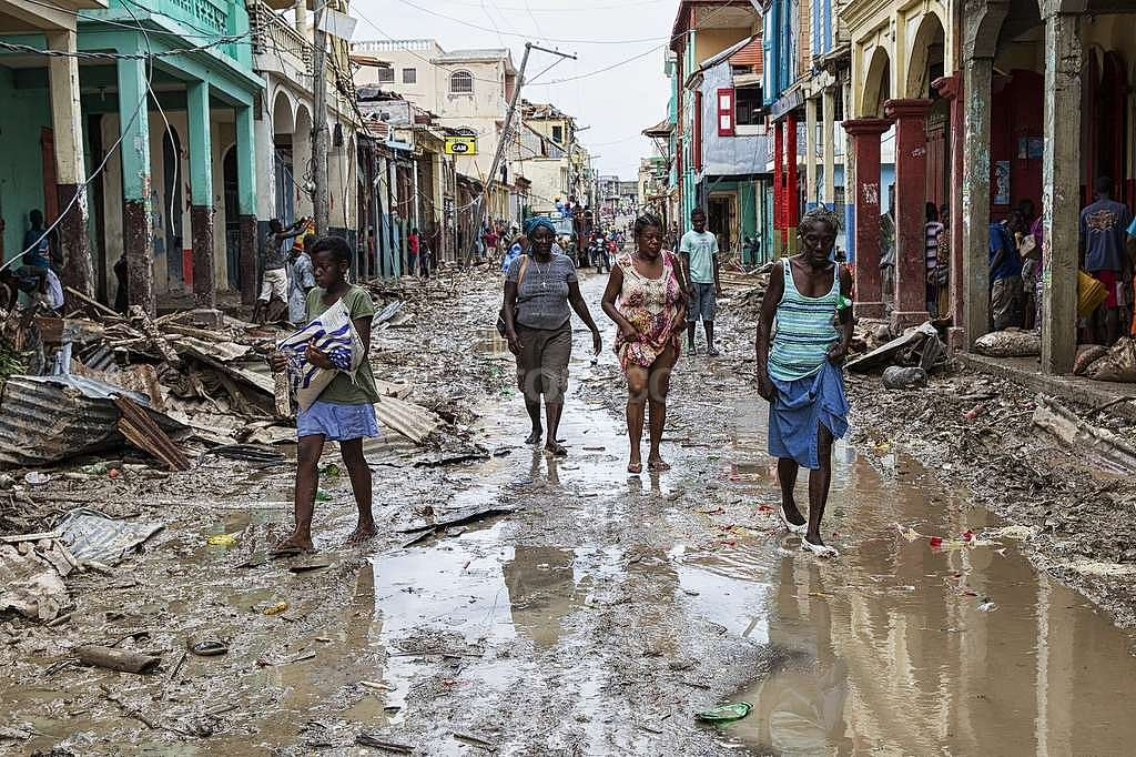 El paso del huracán Matthew fue devastador