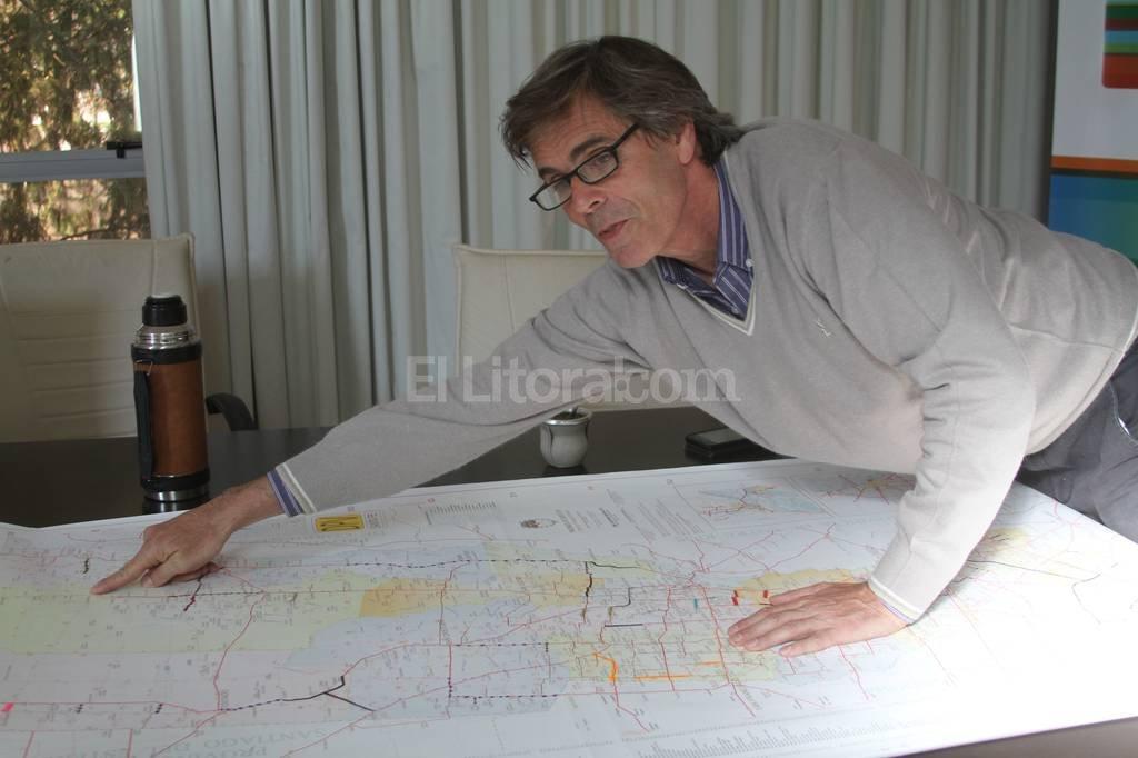 �Estamos en el plan vial m�s ambicioso que ha tenido la repartici�n�, dijo Seghezzo. Foto:Luis Cetraro