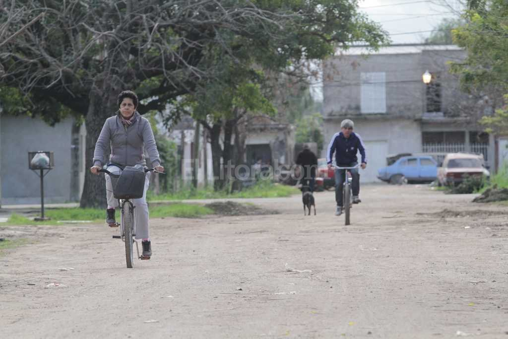 Barrio Chalet. Parte de los fondos estarán destinados para trabajos de cordón cuneta. Foto:Archivo El Litoral / Mauricio Garín
