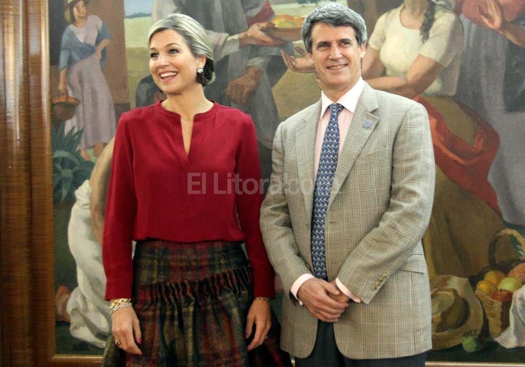 El ministro de Hacienda recibi� ayer a la reina de Holanda, M�xima Zorrequieta. Foto:DyN