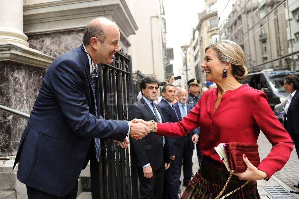 El presidente del Banco Central, Federico Sturzenegger, recibi� este mi�rcoles a la Reina de Holanda. Foto:DyN