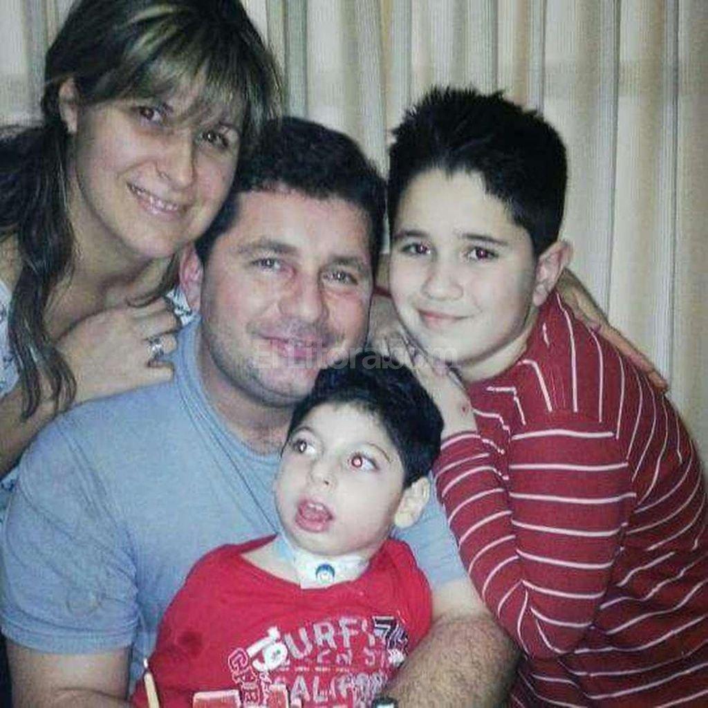 El caso de Patricia facilit� los tr�mites para que Mateo Manzzieri consiguiera la cobertura en el Iapos. Gentileza familia Manzzieri
