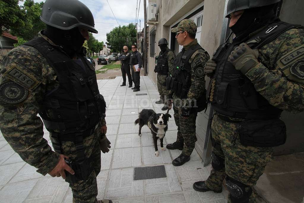"""La perrita """"Lisa"""" ayudó a sus compañeros a encontrar la cocaína que estaba oculta en la vivienda. Luis Cetraro"""