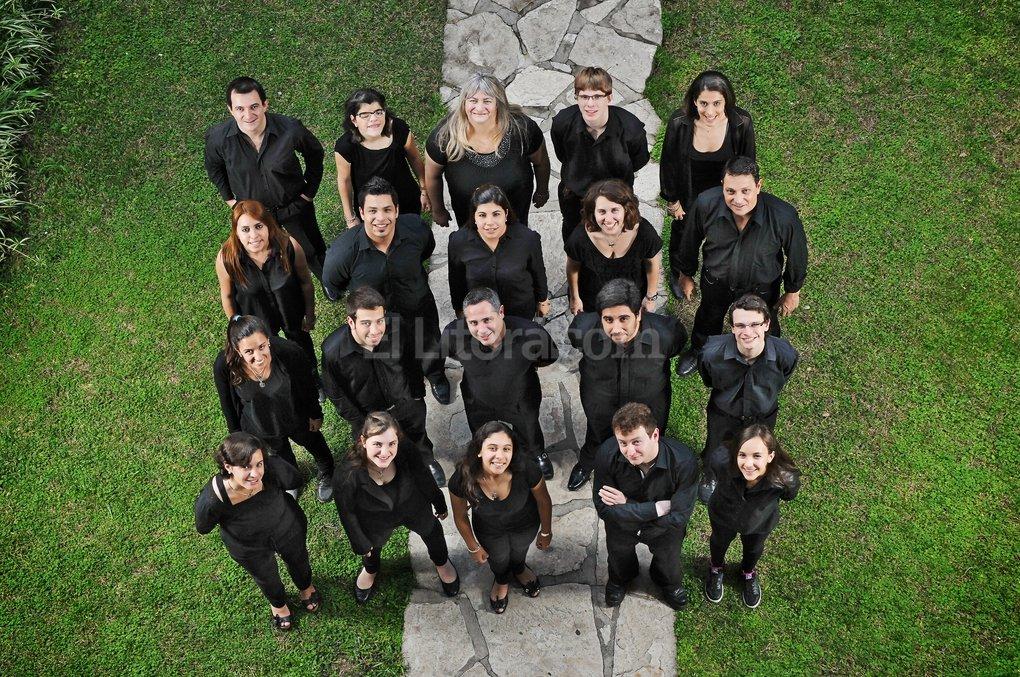 El Coral Sacro comenzó su recorrido en 1991, como Coro Arquidiocesano de Santa Fe. Gentileza Producción