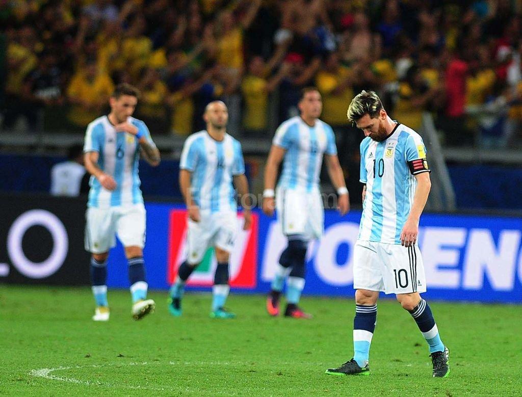 La expresión de Messi lo dice todo. Télam