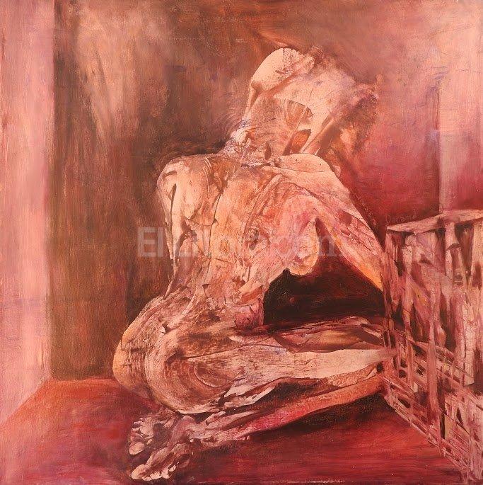 """Laura Durand, """"El cofre"""". Óleo sobre lienzo. Gentileza Producción"""