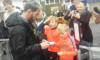 Video: la increíble reacción de un niño al ver a Messi