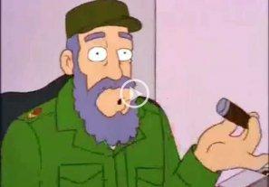 Video: el episodio de Los Simpsons donde se burlan de Fidel Castro