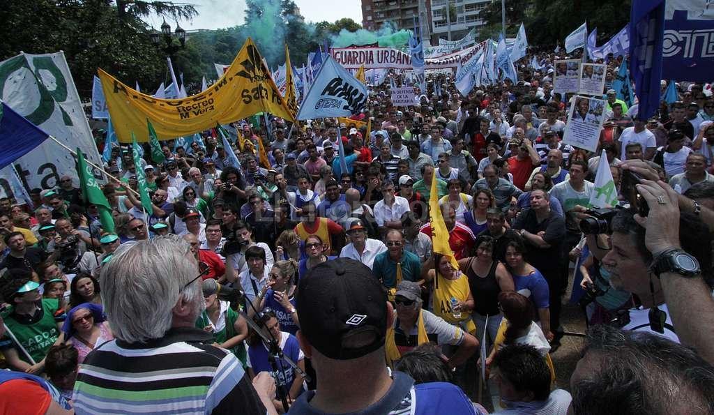 Jornada de protesta de los docentes públicos en toda la provincia