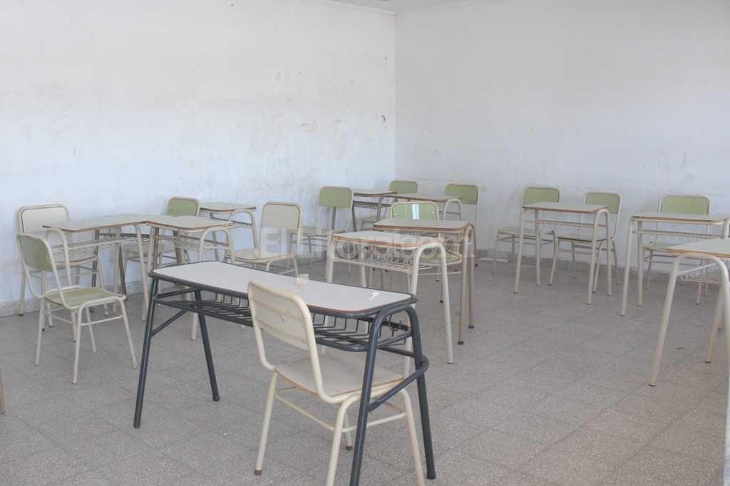Una de las aulas de la escuela n° 262