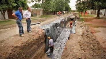 Plan Norte: Avanzan las obras de desagües en barrio Yapeyú -