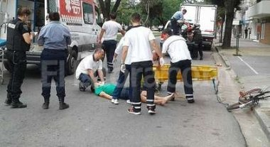 Motociclista accidentado -