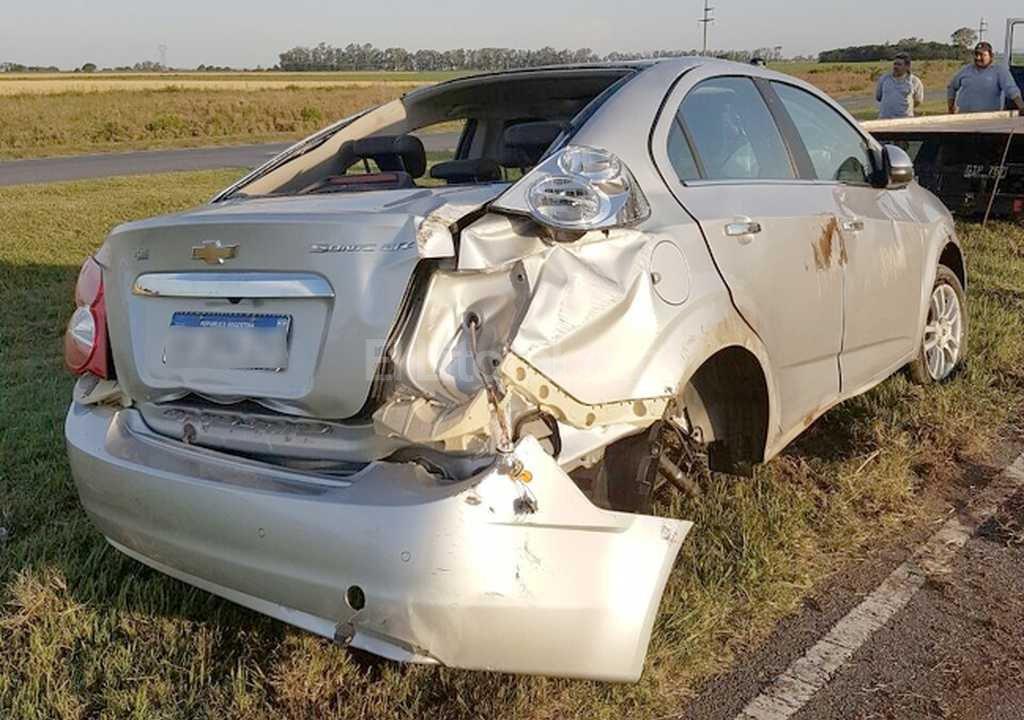 El hijo del juez Ricardo Lorenzetti volcó con su auto