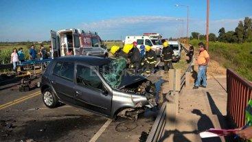 Choque en la Ruta 70 deja una fallecida y 3 heridos