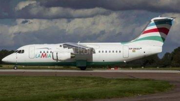 El avión de Lamia que transportó a la selección también tenía poco combustible