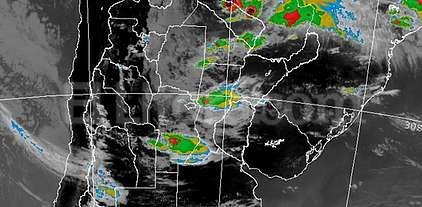 Alerta por tormentas fuertes - Imagen del radar del SMN. -